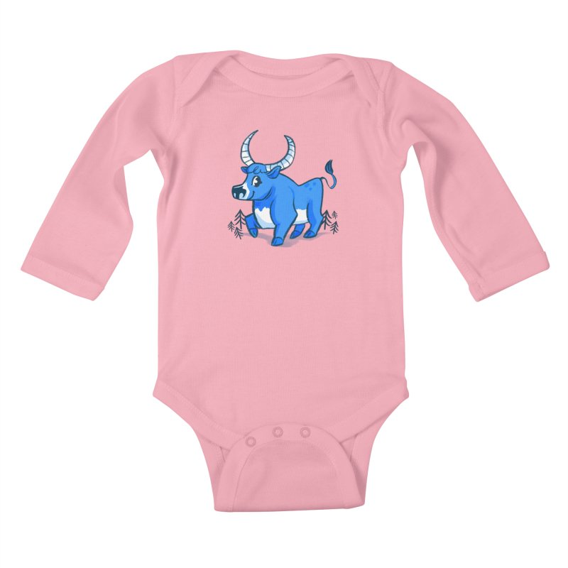 Babe the Blue Kids Baby Longsleeve Bodysuit by Kaija Lea Art Shop // Prints, Gifts + Home Goods