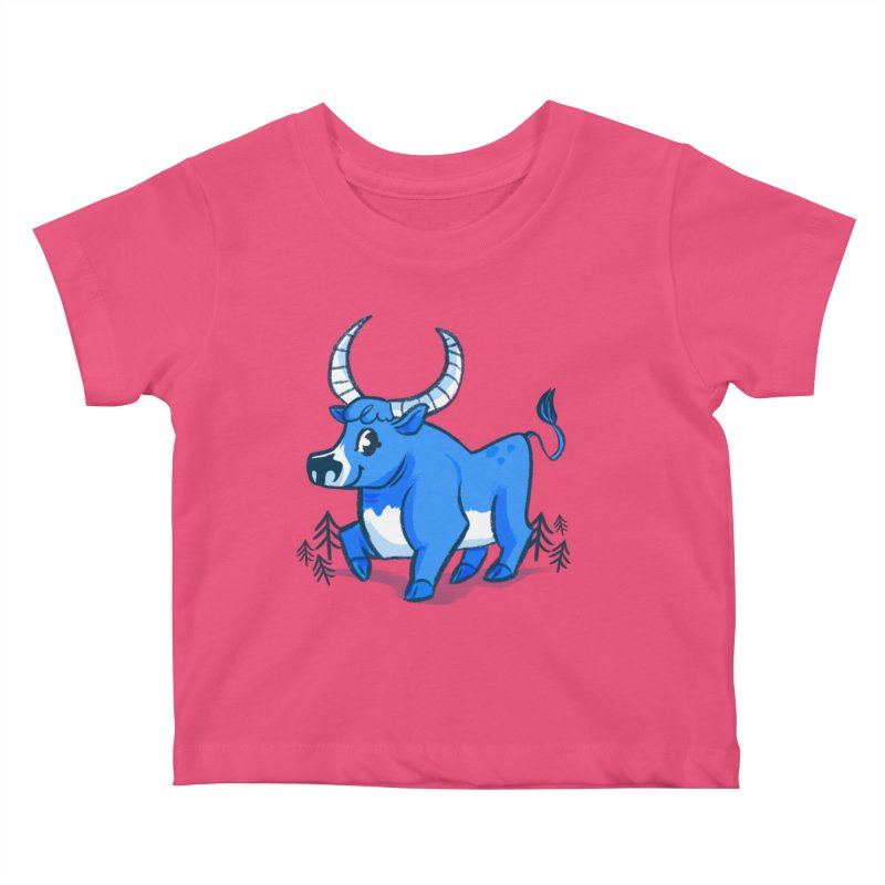 Babe the Blue Kids Baby T-Shirt by Kaija Lea Art Shop // Prints, Gifts + Home Goods