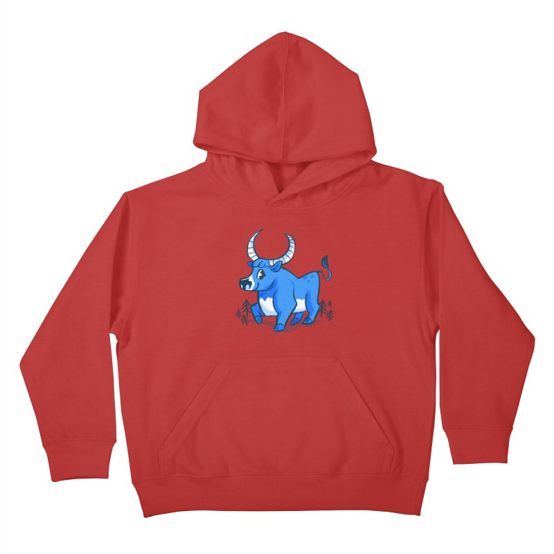 Babe the Blue Kids Pullover Hoody by Kaija Lea Art Shop // Prints, Gifts + Home Goods