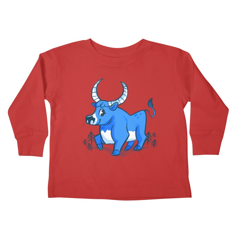 Babe the Blue Kids Toddler Longsleeve T-Shirt by Kaija Lea Art Shop // Prints, Gifts + Home Goods