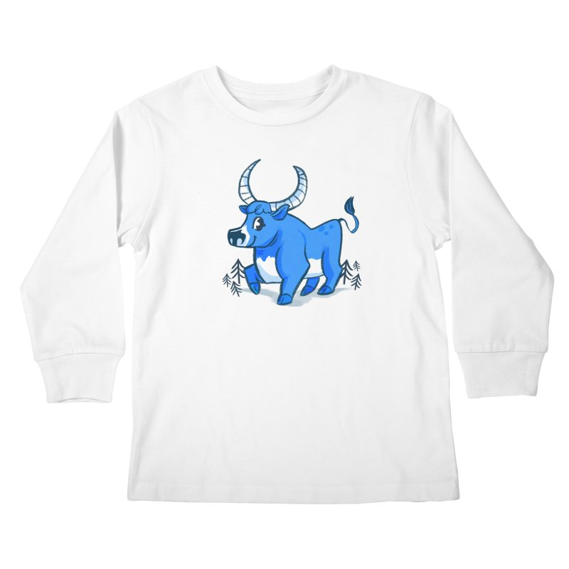 Babe the Blue Kids Longsleeve T-Shirt by Kaija Lea Art Shop // Prints, Gifts + Home Goods