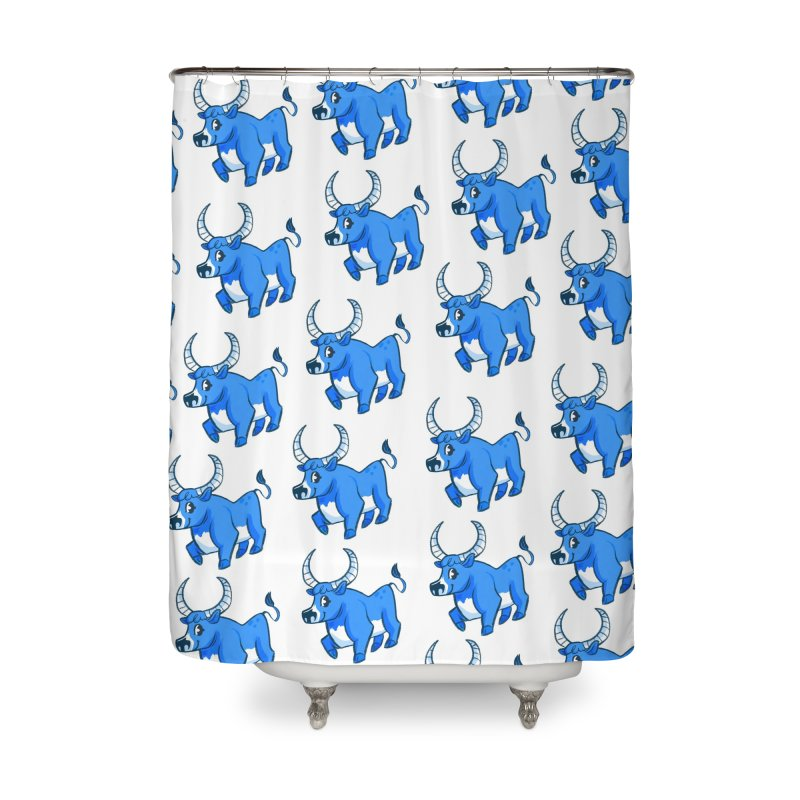 Babe the Blue Home Shower Curtain by Kaija Lea Art Shop // Prints, Gifts + Home Goods