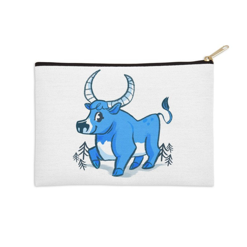 Babe the Blue Accessories Zip Pouch by Kaija Lea Art Shop // Prints, Gifts + Home Goods