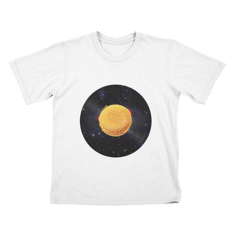 BURGER UNIVERSE Kids T-shirt by kajenoz's Artist Shop