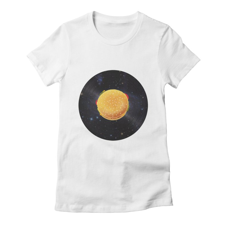 BURGER UNIVERSE Women's Fitted T-Shirt by kajenoz's Artist Shop