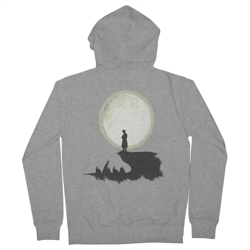 A MAN ON THE HILL Men's Zip-Up Hoody by kajenoz's Artist Shop