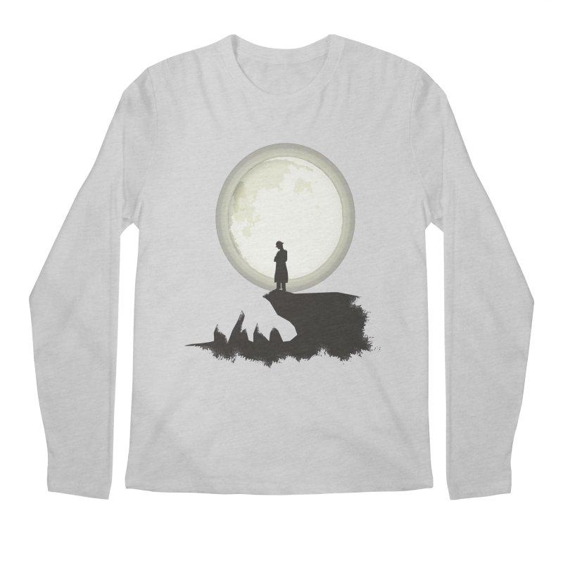 A MAN ON THE HILL Men's Longsleeve T-Shirt by kajenoz's Artist Shop