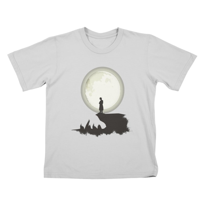 A MAN ON THE HILL Kids T-Shirt by kajenoz's Artist Shop