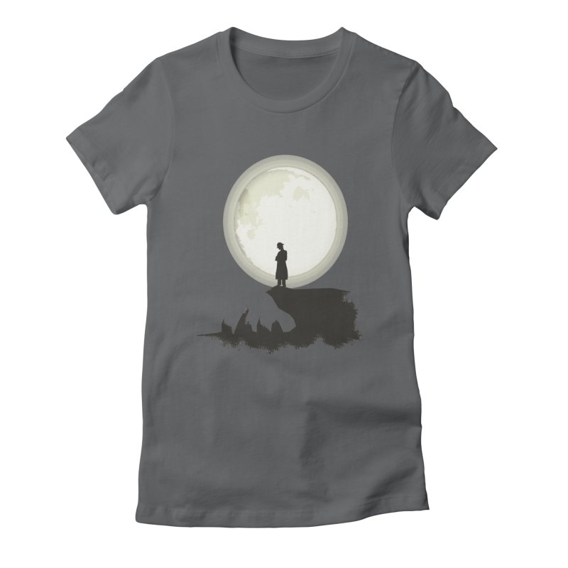 A MAN ON THE HILL Women's Fitted T-Shirt by kajenoz's Artist Shop