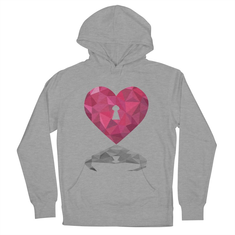 HARD HEART Men's Pullover Hoody by kajenoz's Artist Shop