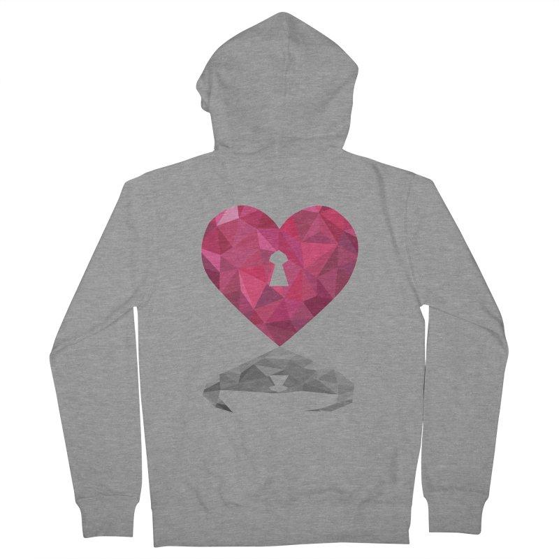 HARD HEART Women's Zip-Up Hoody by kajenoz's Artist Shop