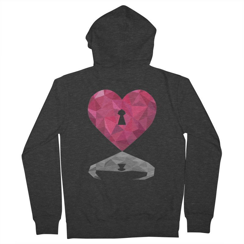 HARD HEART Men's Zip-Up Hoody by kajenoz's Artist Shop