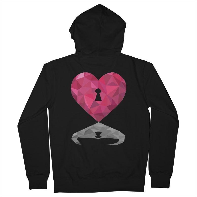 HARD HEART Men's Zip-Up Hoody by kajenoz's Artist Shop