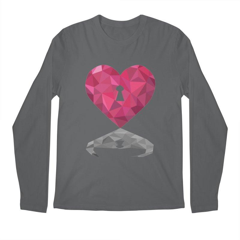 HARD HEART Men's Longsleeve T-Shirt by kajenoz's Artist Shop