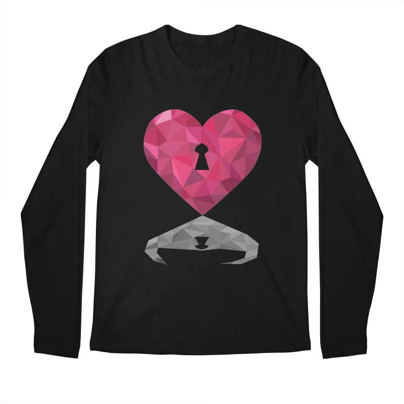 HARD HEART Men's Longsleeve T-Shirt by kajenoz's Artist Shop