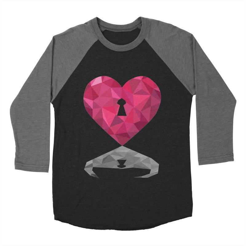 HARD HEART Men's Baseball Triblend T-Shirt by kajenoz's Artist Shop