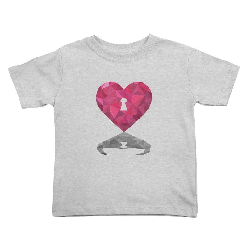 HARD HEART Kids Toddler T-Shirt by kajenoz's Artist Shop