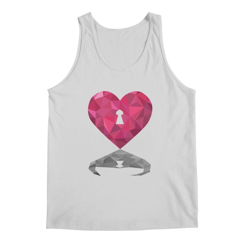HARD HEART Men's Tank by kajenoz's Artist Shop