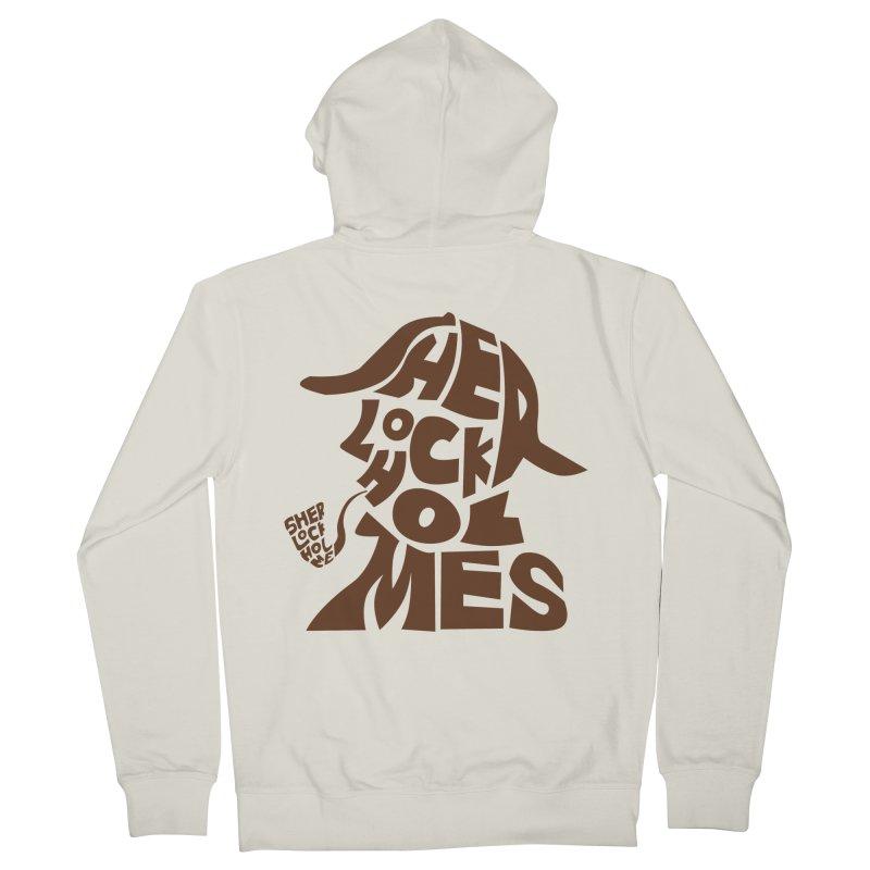 SHERLOCK HOLMES Men's Zip-Up Hoody by kajenoz's Artist Shop