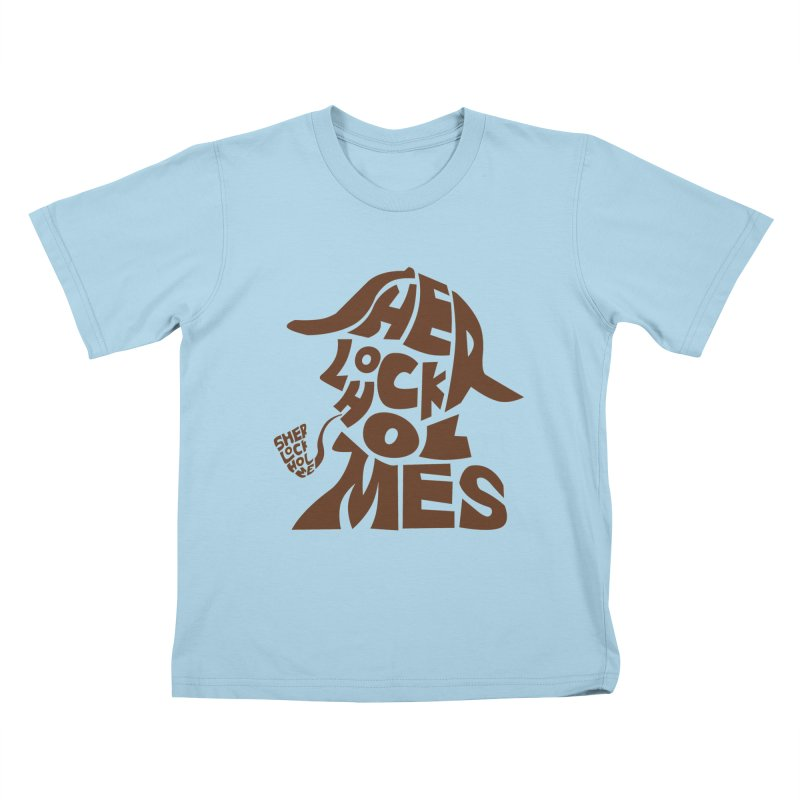 SHERLOCK HOLMES Kids T-shirt by kajenoz's Artist Shop