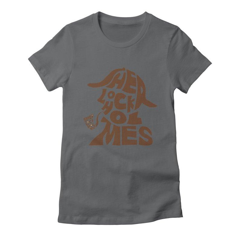 SHERLOCK HOLMES Women's Fitted T-Shirt by kajenoz's Artist Shop