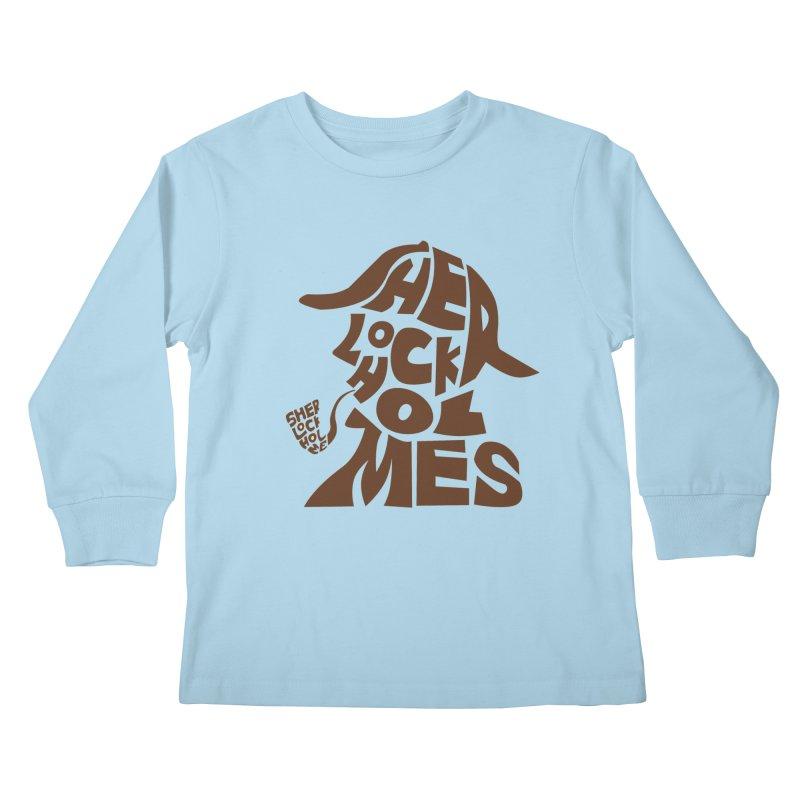 SHERLOCK HOLMES Kids Longsleeve T-Shirt by kajenoz's Artist Shop