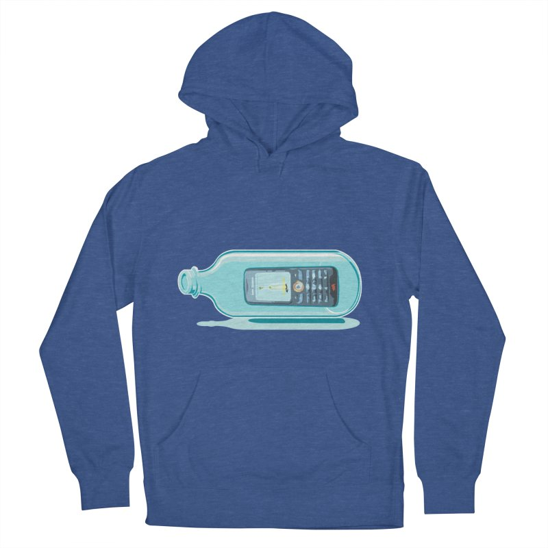 MODERN MESSAGE IN THE BOTTLE Men's Pullover Hoody by kajenoz's Artist Shop
