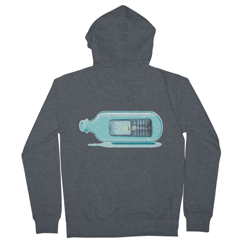 MODERN MESSAGE IN THE BOTTLE Women's Zip-Up Hoody by kajenoz's Artist Shop