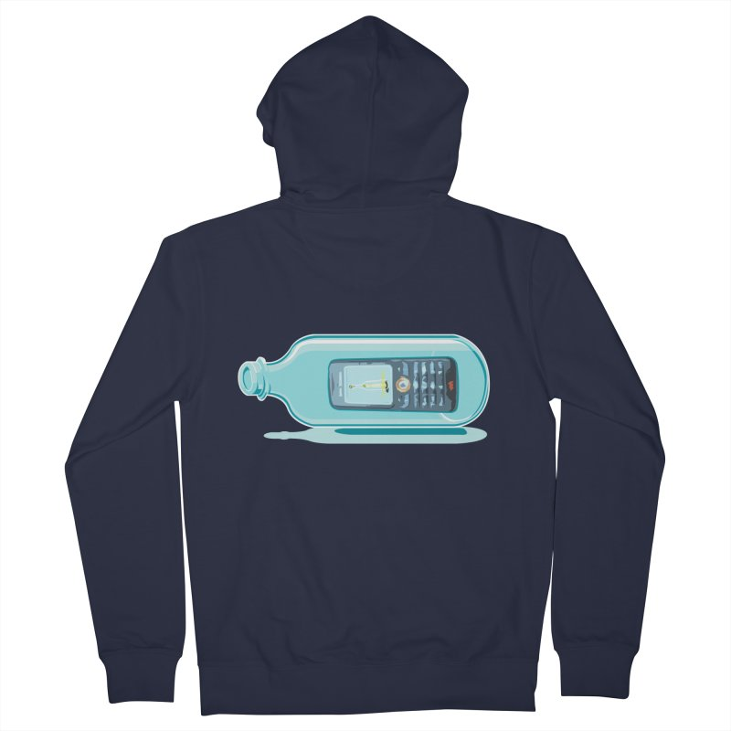 MODERN MESSAGE IN THE BOTTLE Men's Zip-Up Hoody by kajenoz's Artist Shop
