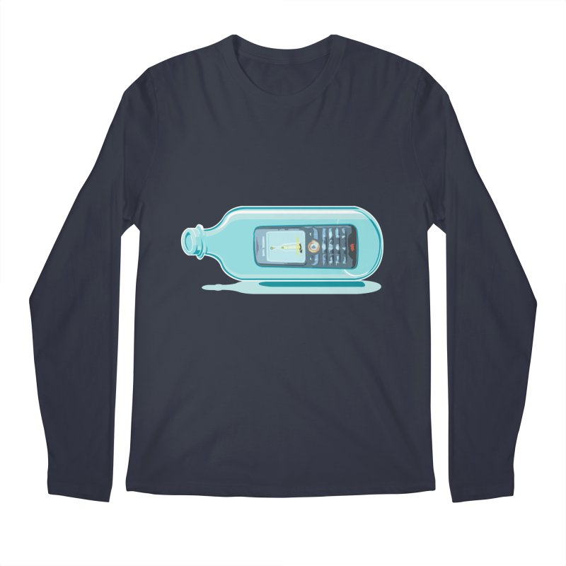 MODERN MESSAGE IN THE BOTTLE Men's Longsleeve T-Shirt by kajenoz's Artist Shop