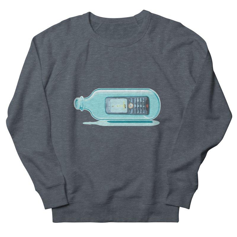MODERN MESSAGE IN THE BOTTLE Men's Sweatshirt by kajenoz's Artist Shop