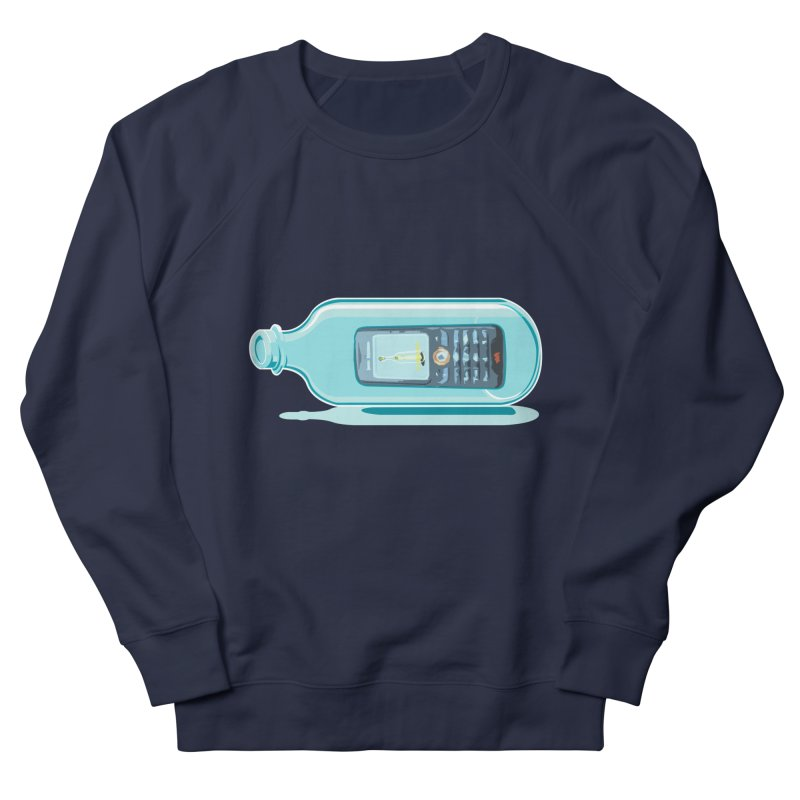 MODERN MESSAGE IN THE BOTTLE Men's Sweatshirt by kajenoz's Artist Shop