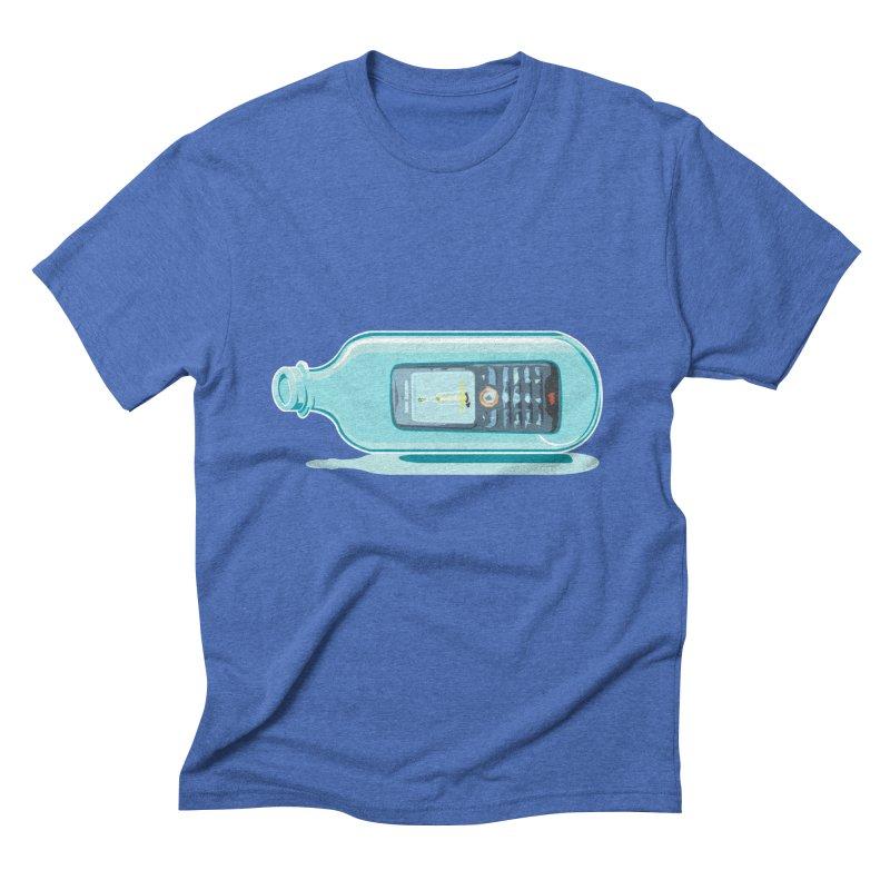 MODERN MESSAGE IN THE BOTTLE Men's Triblend T-Shirt by kajenoz's Artist Shop