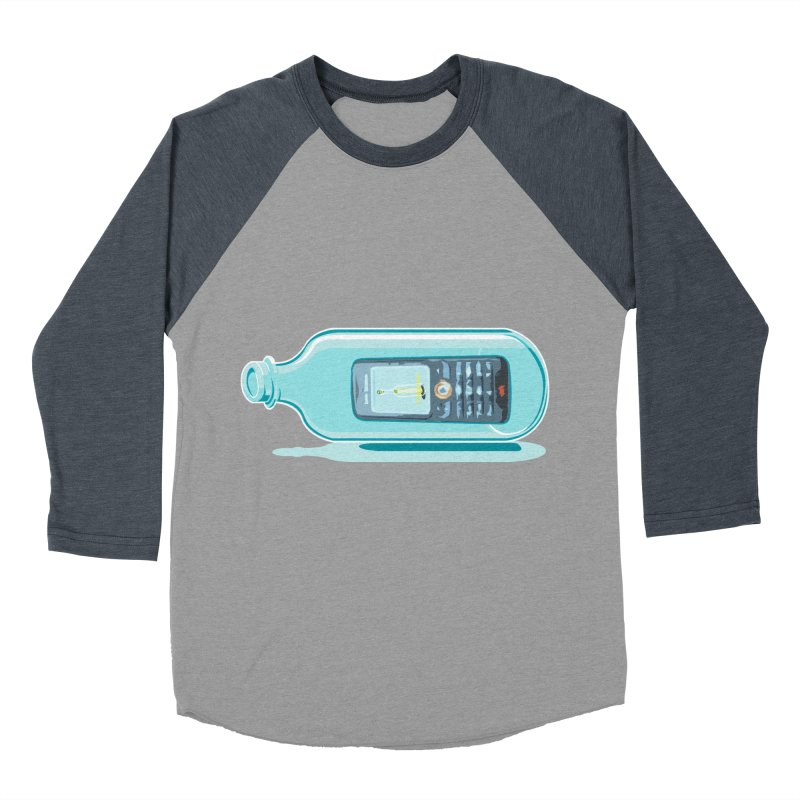 MODERN MESSAGE IN THE BOTTLE Women's Baseball Triblend T-Shirt by kajenoz's Artist Shop