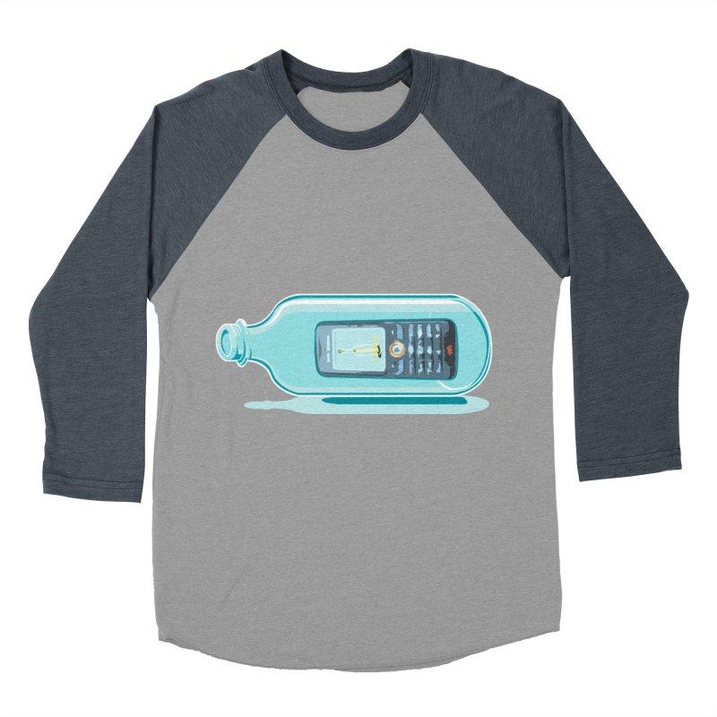 MODERN MESSAGE IN THE BOTTLE Men's Baseball Triblend T-Shirt by kajenoz's Artist Shop
