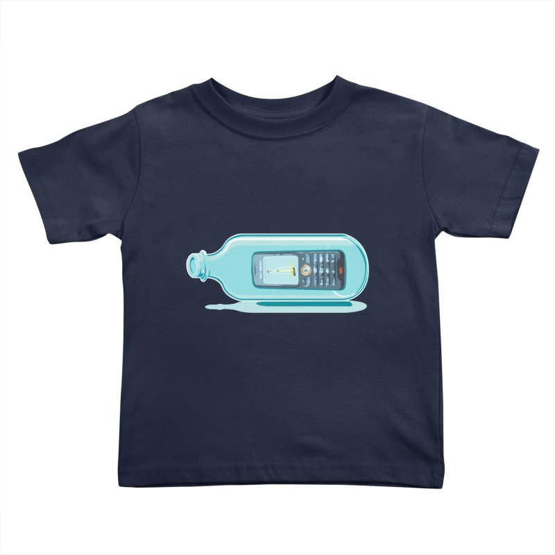 MODERN MESSAGE IN THE BOTTLE Kids Toddler T-Shirt by kajenoz's Artist Shop