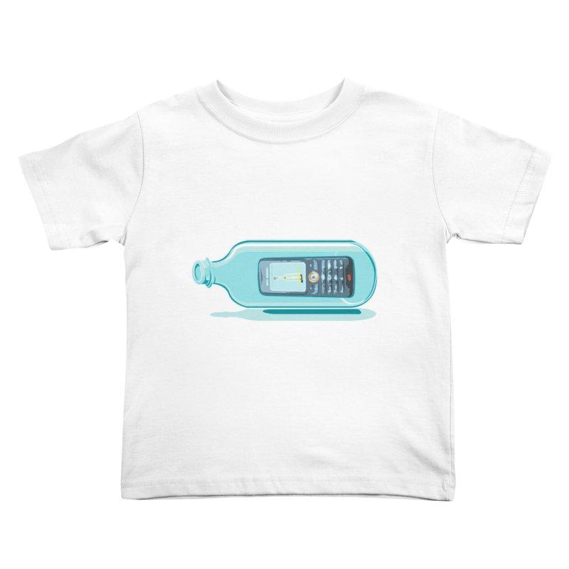 MODERN MESSAGE IN THE BOTTLE Kids Toddler T-Shirt by kajenoz's Artist Shop