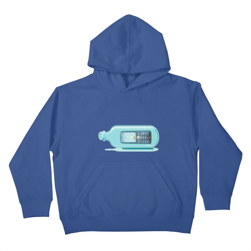 MODERN MESSAGE IN THE BOTTLE Kids Pullover Hoody by kajenoz's Artist Shop