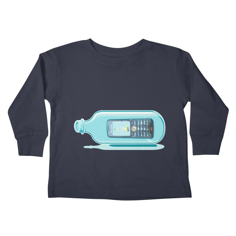 MODERN MESSAGE IN THE BOTTLE Kids Toddler Longsleeve T-Shirt by kajenoz's Artist Shop