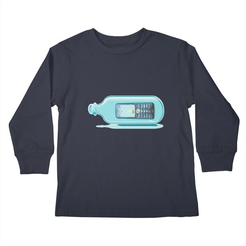 MODERN MESSAGE IN THE BOTTLE Kids Longsleeve T-Shirt by kajenoz's Artist Shop