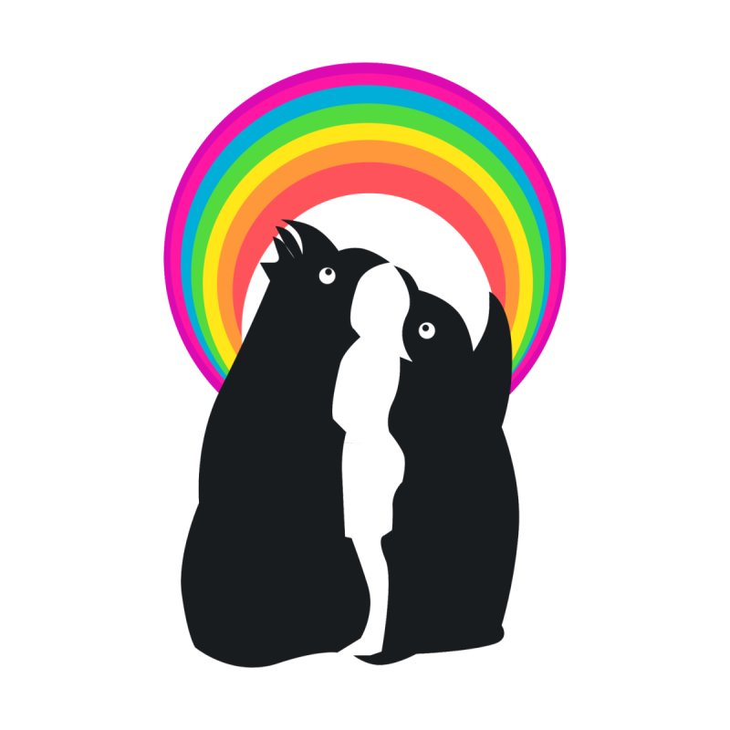 PENGUINS, GIRL, RAINBOW None  by kajenoz's Artist Shop