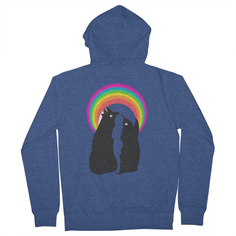 PENGUINS, GIRL, RAINBOW Men's Zip-Up Hoody by kajenoz's Artist Shop
