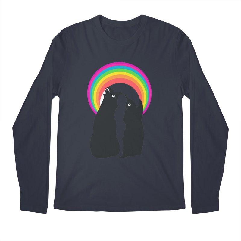 PENGUINS, GIRL, RAINBOW Men's Longsleeve T-Shirt by kajenoz's Artist Shop