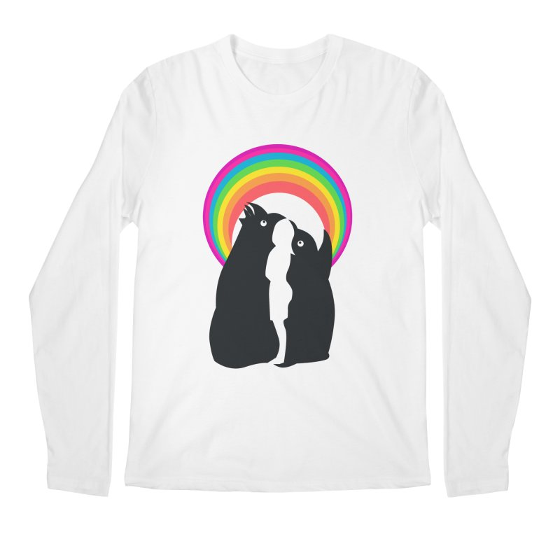 PENGUINS, GIRL, RAINBOW Men's Longsleeve T-Shirt by kajenoz's Artist Shop
