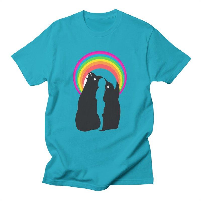 PENGUINS, GIRL, RAINBOW Men's T-Shirt by kajenoz's Artist Shop