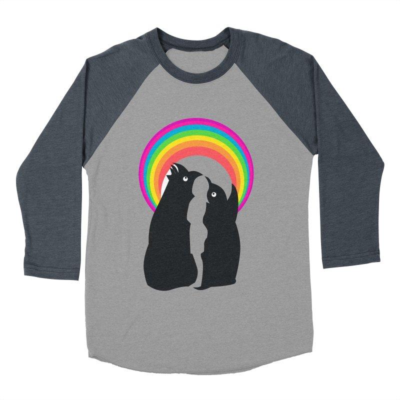 PENGUINS, GIRL, RAINBOW Women's Baseball Triblend T-Shirt by kajenoz's Artist Shop