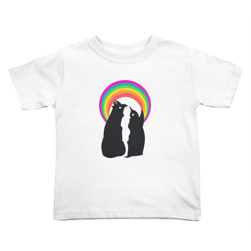 PENGUINS, GIRL, RAINBOW Kids Toddler T-Shirt by kajenoz's Artist Shop