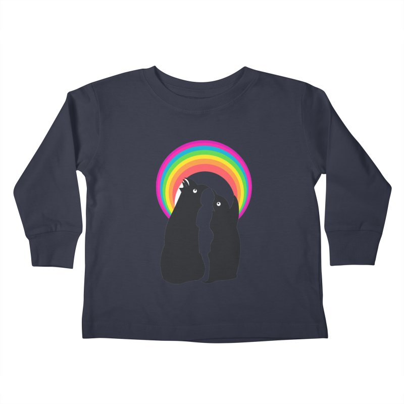 PENGUINS, GIRL, RAINBOW Kids Toddler Longsleeve T-Shirt by kajenoz's Artist Shop