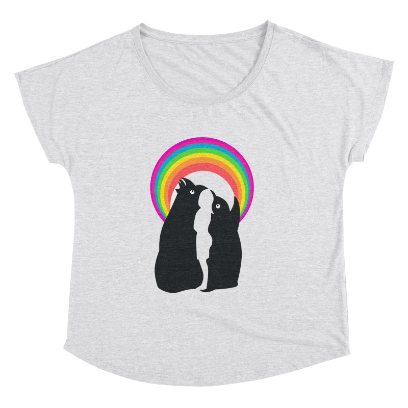 PENGUINS, GIRL, RAINBOW Women's Dolman by kajenoz's Artist Shop