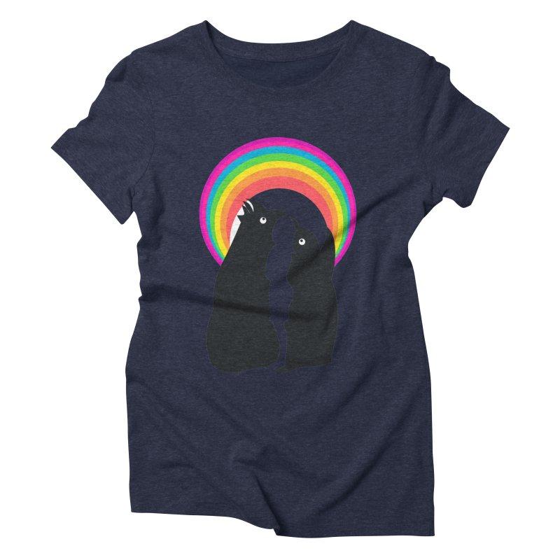 PENGUINS, GIRL, RAINBOW Women's Triblend T-shirt by kajenoz's Artist Shop